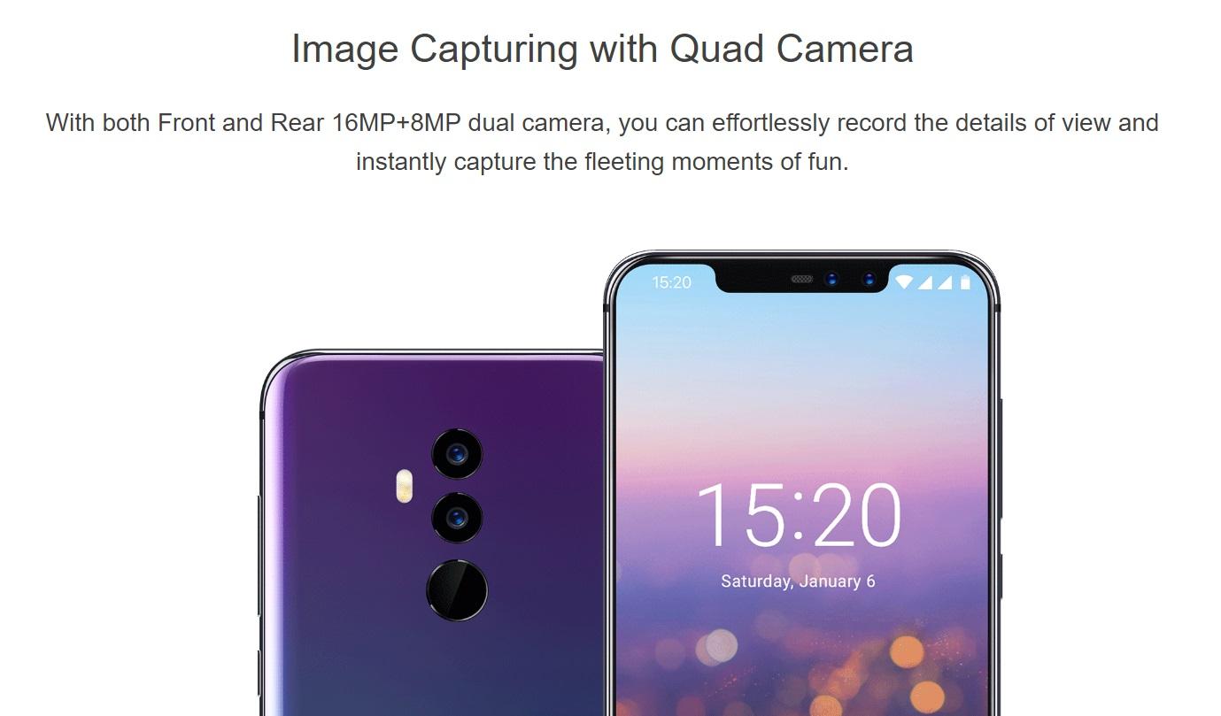 UMIDIGI Z2 Proのカメラ