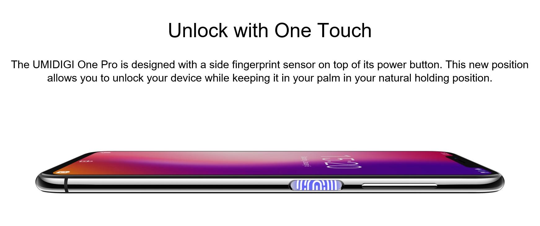 UMIDIGI One Proの生体認証