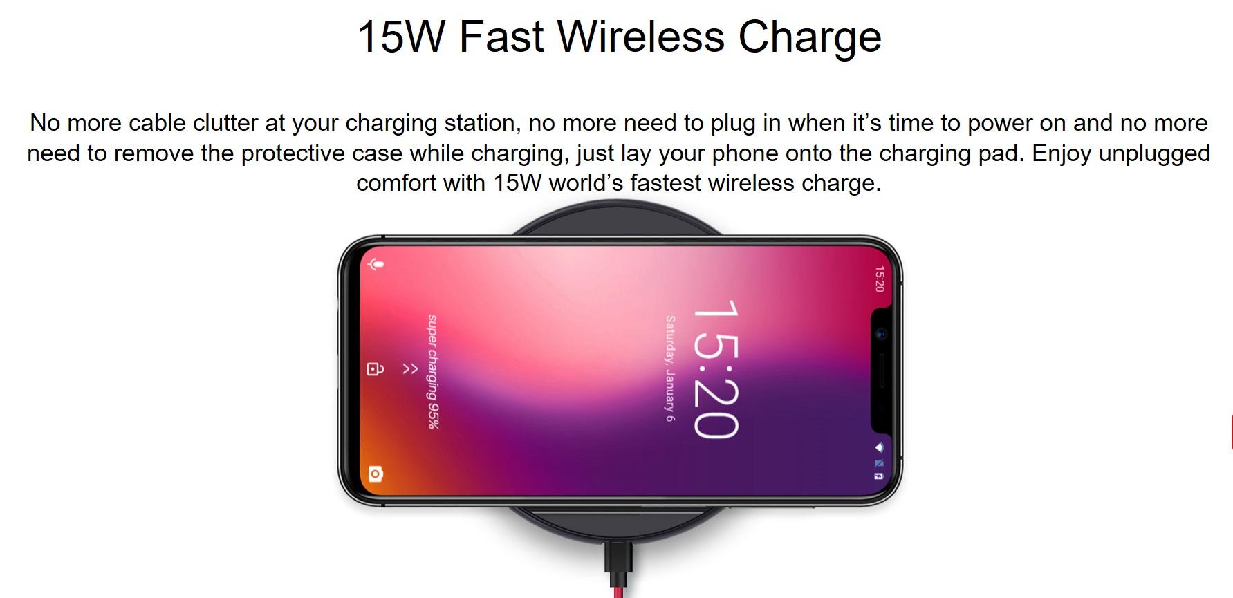 UMIDIGI One Proの無接点充電