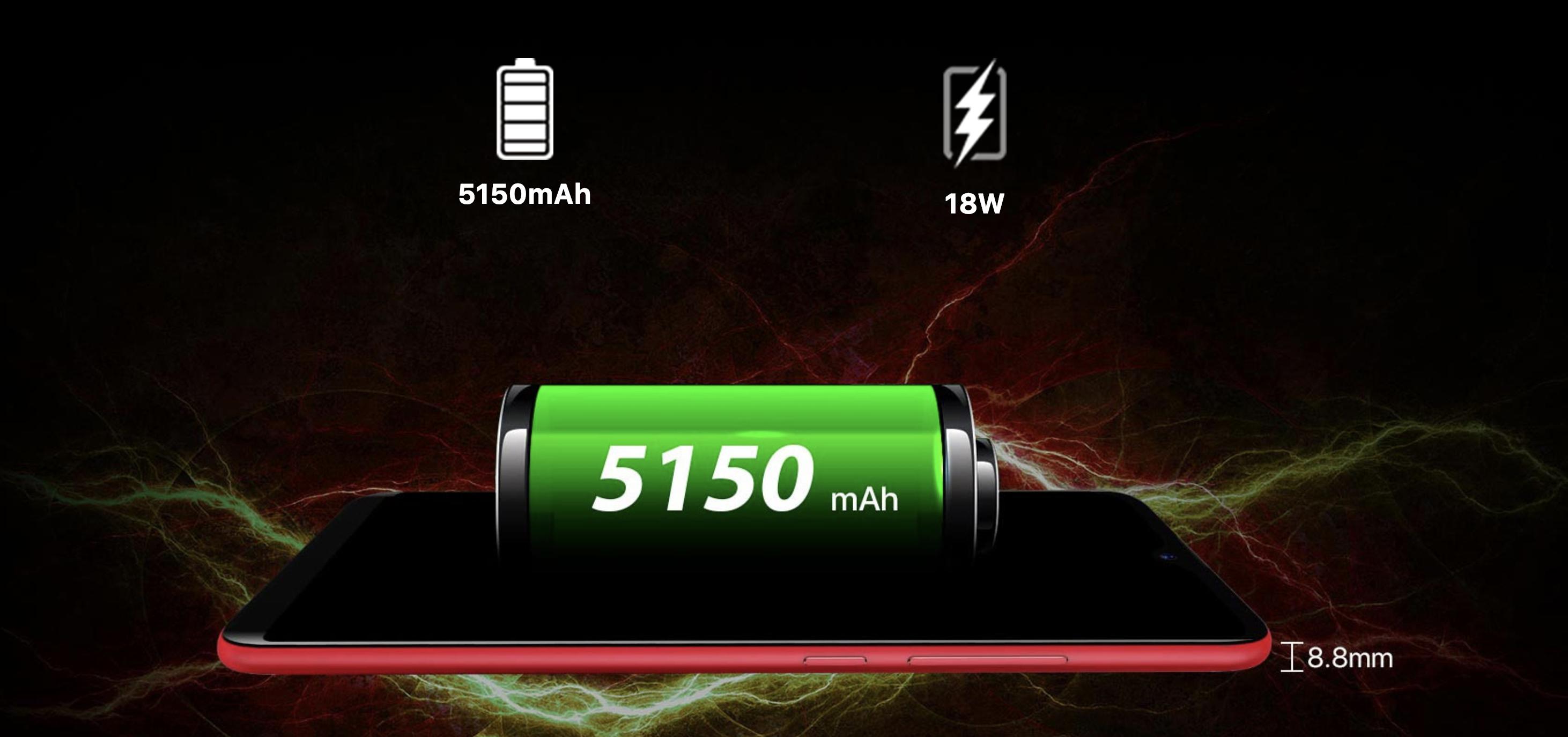 UMIDIGI F1のバッテリーに関するイメージ