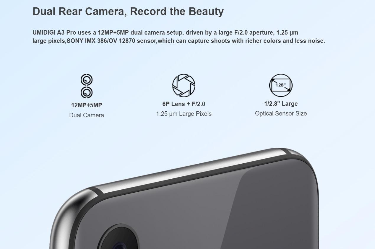 UMIDIGI A3 Proのカメラ