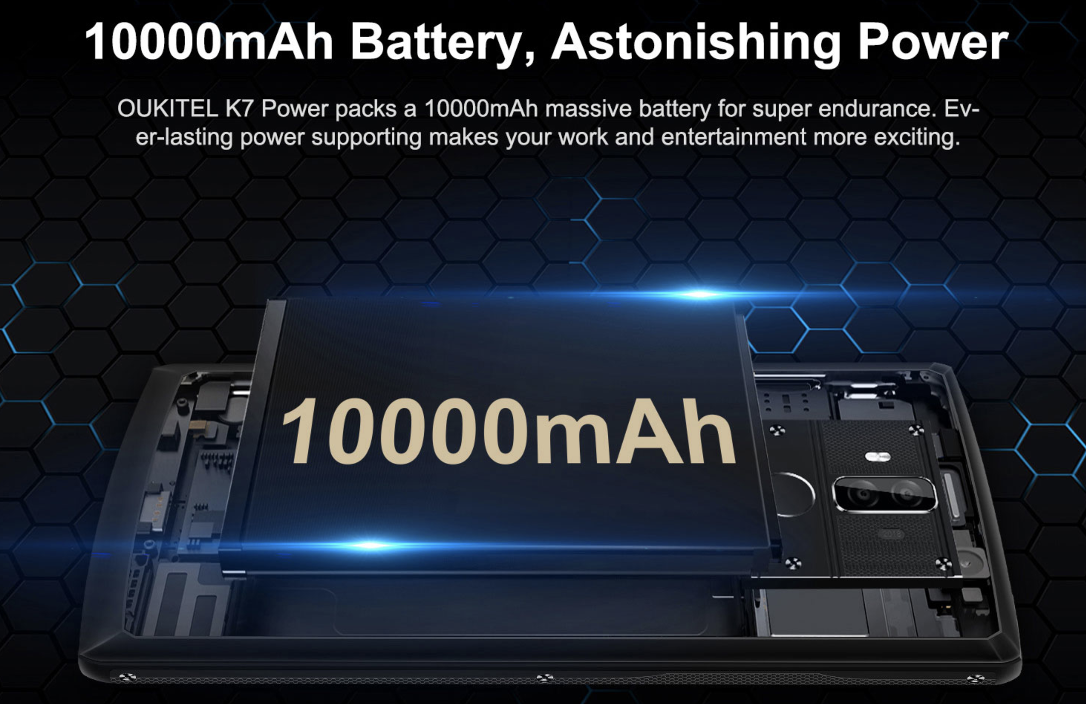 OUKITEL K7 Power battery