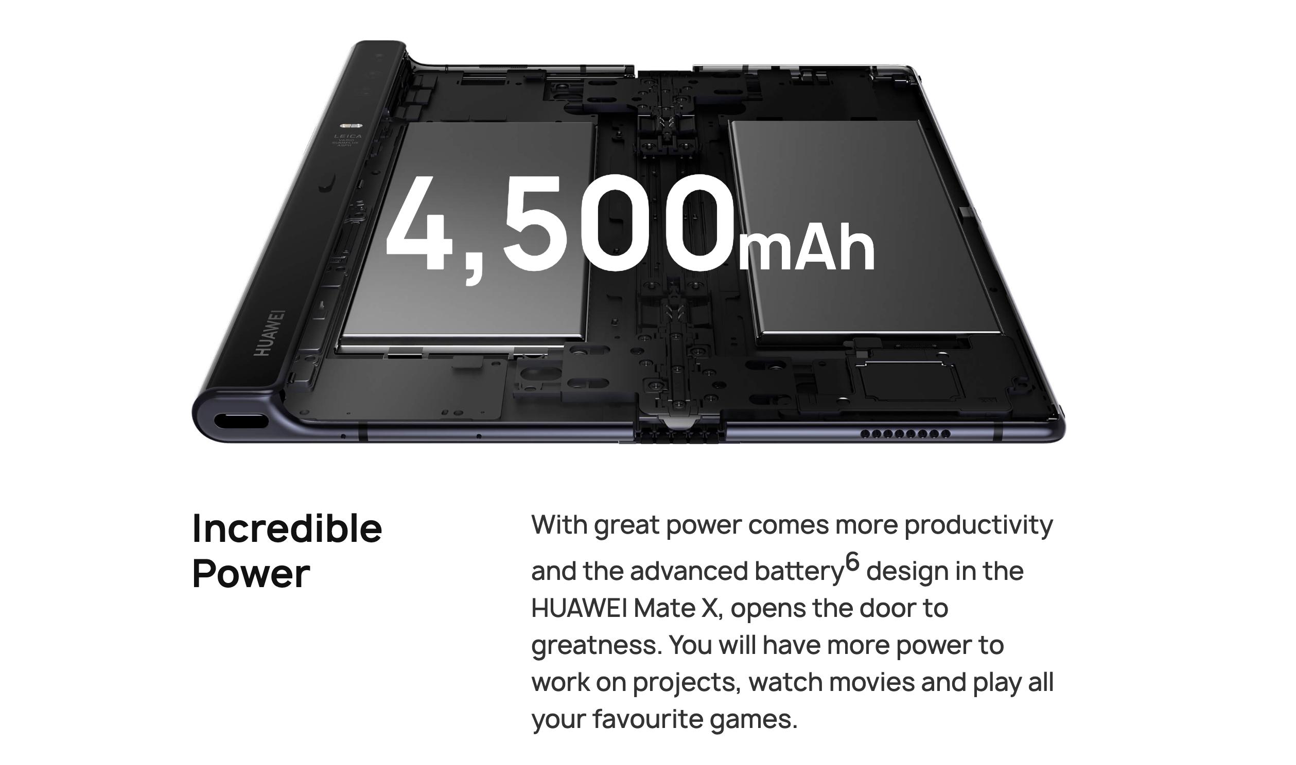 4,500mAhに55Wの急速充電