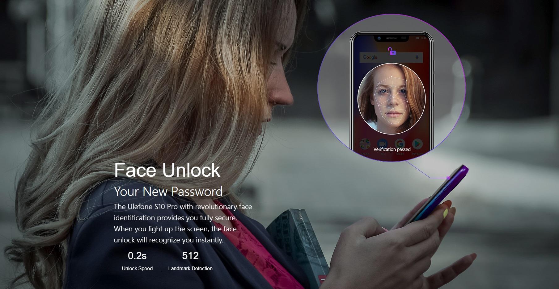 ulefone s10 pro face unlock
