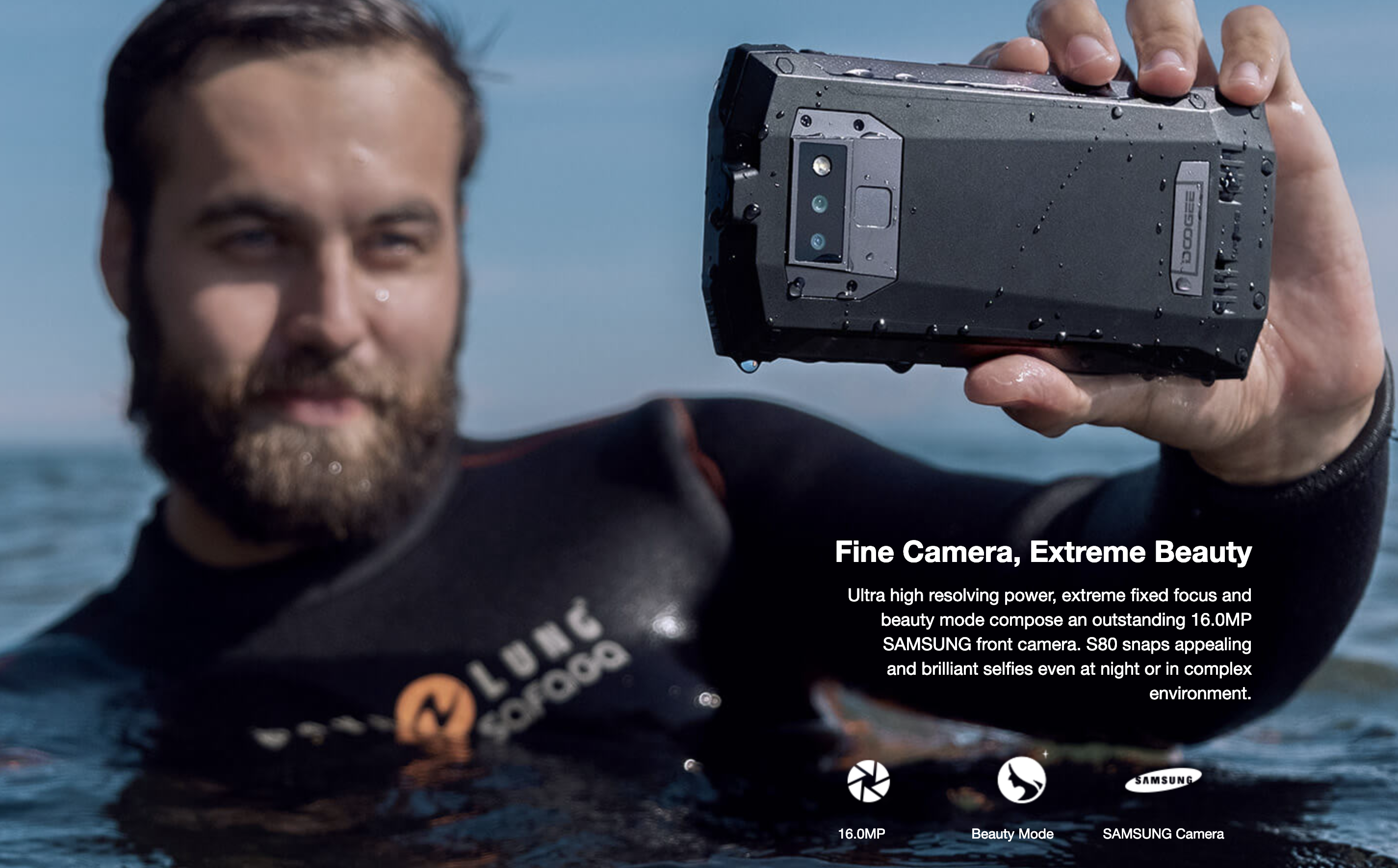 DOOGEE S80のインカメラ