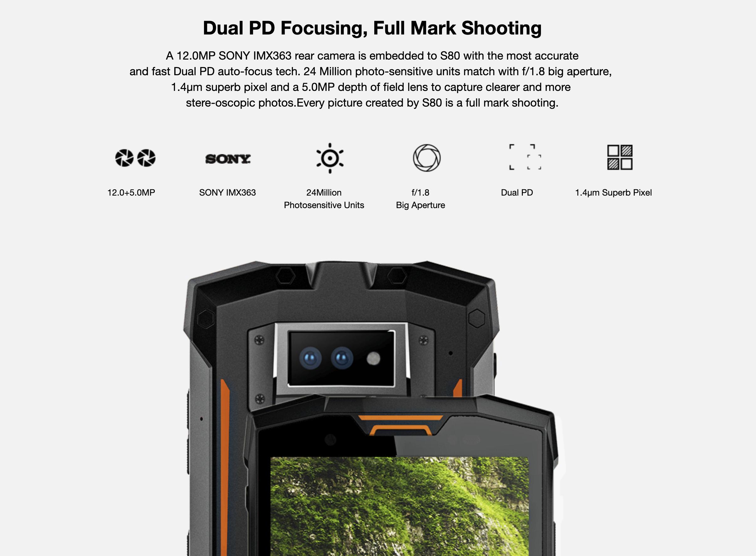 DOOGEE S80のメインカメラ