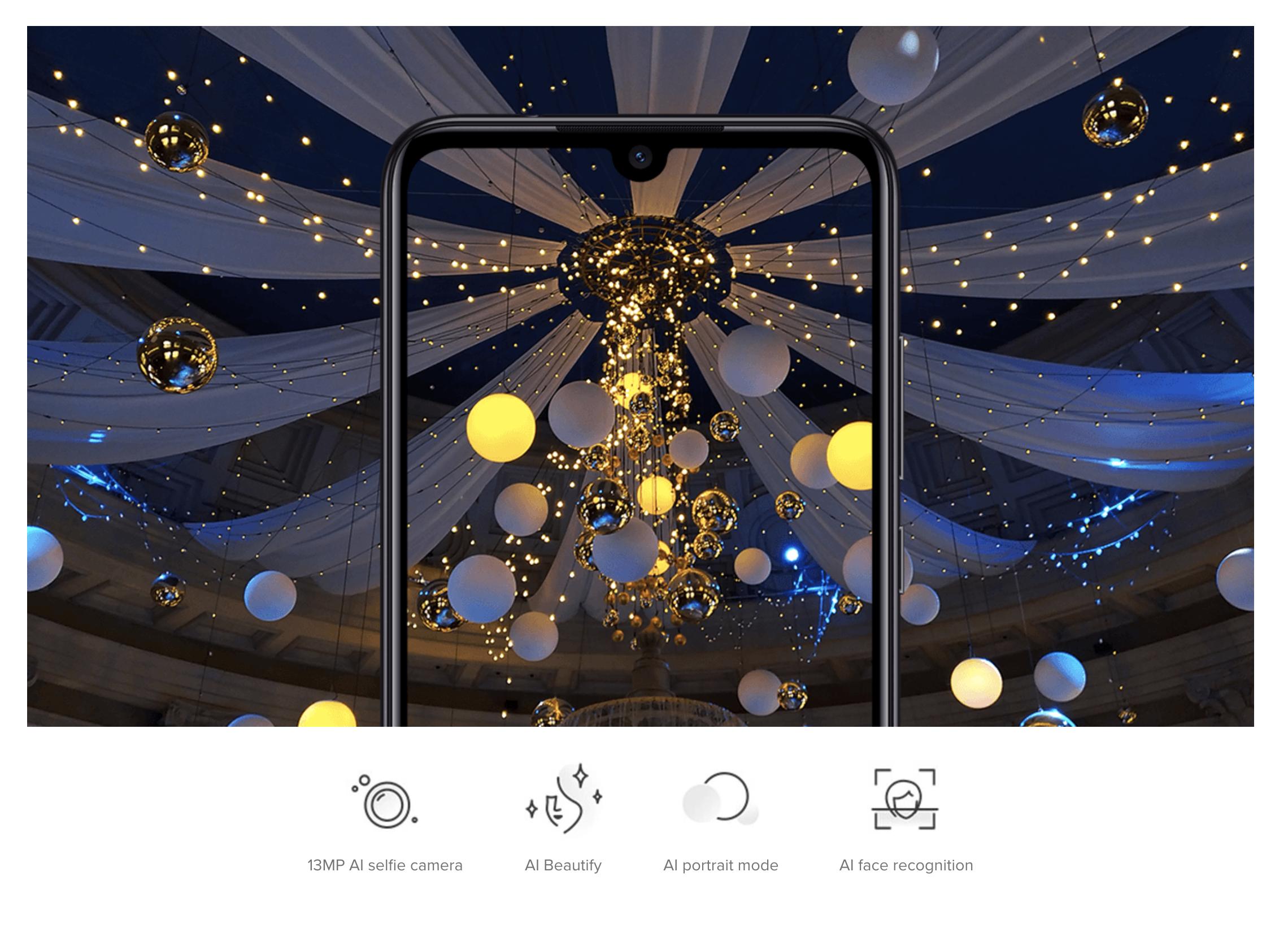 Xiaomi Redmi Note 7のインカメラ