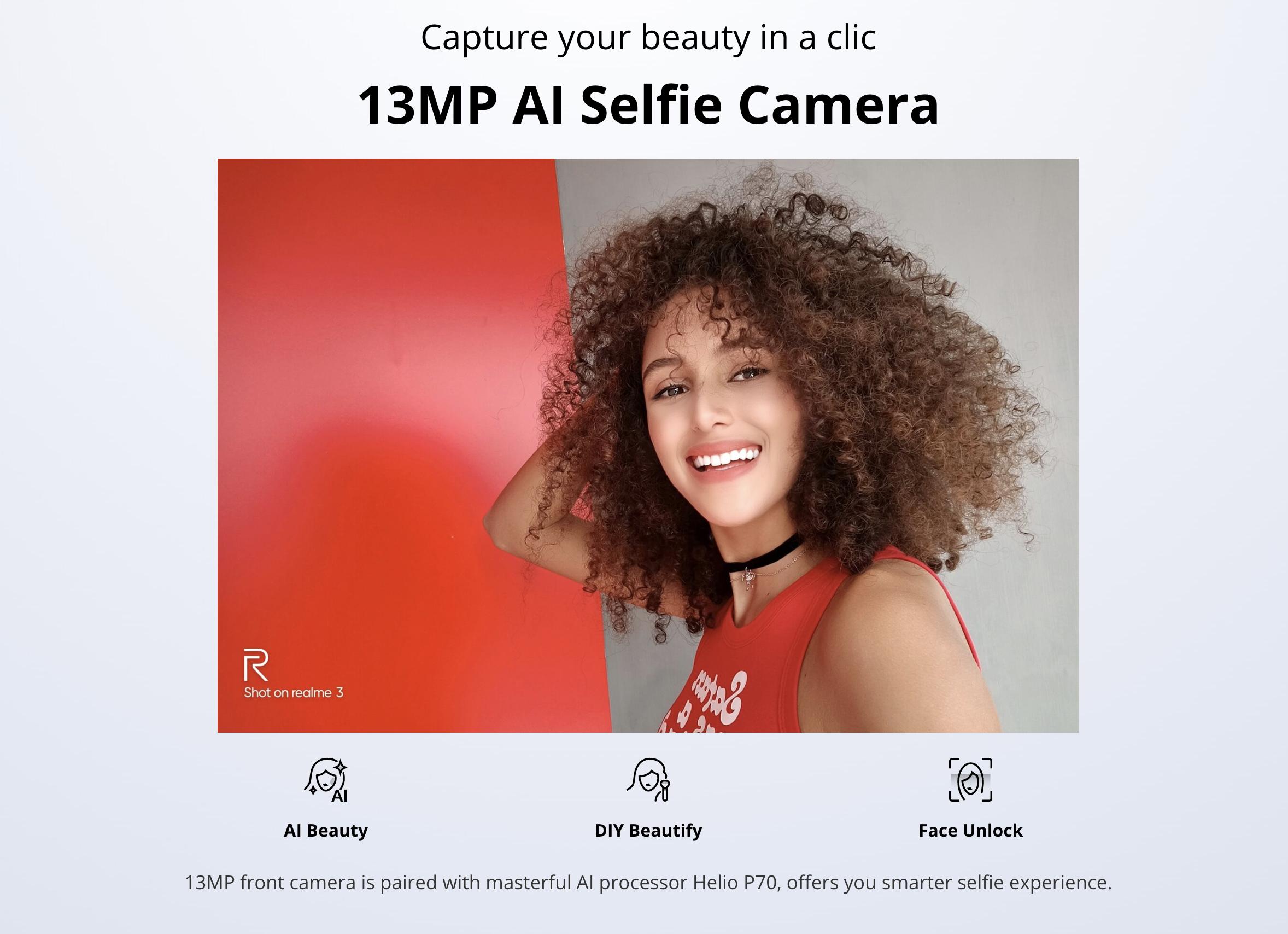 OPPO Realme 3のインカメラ