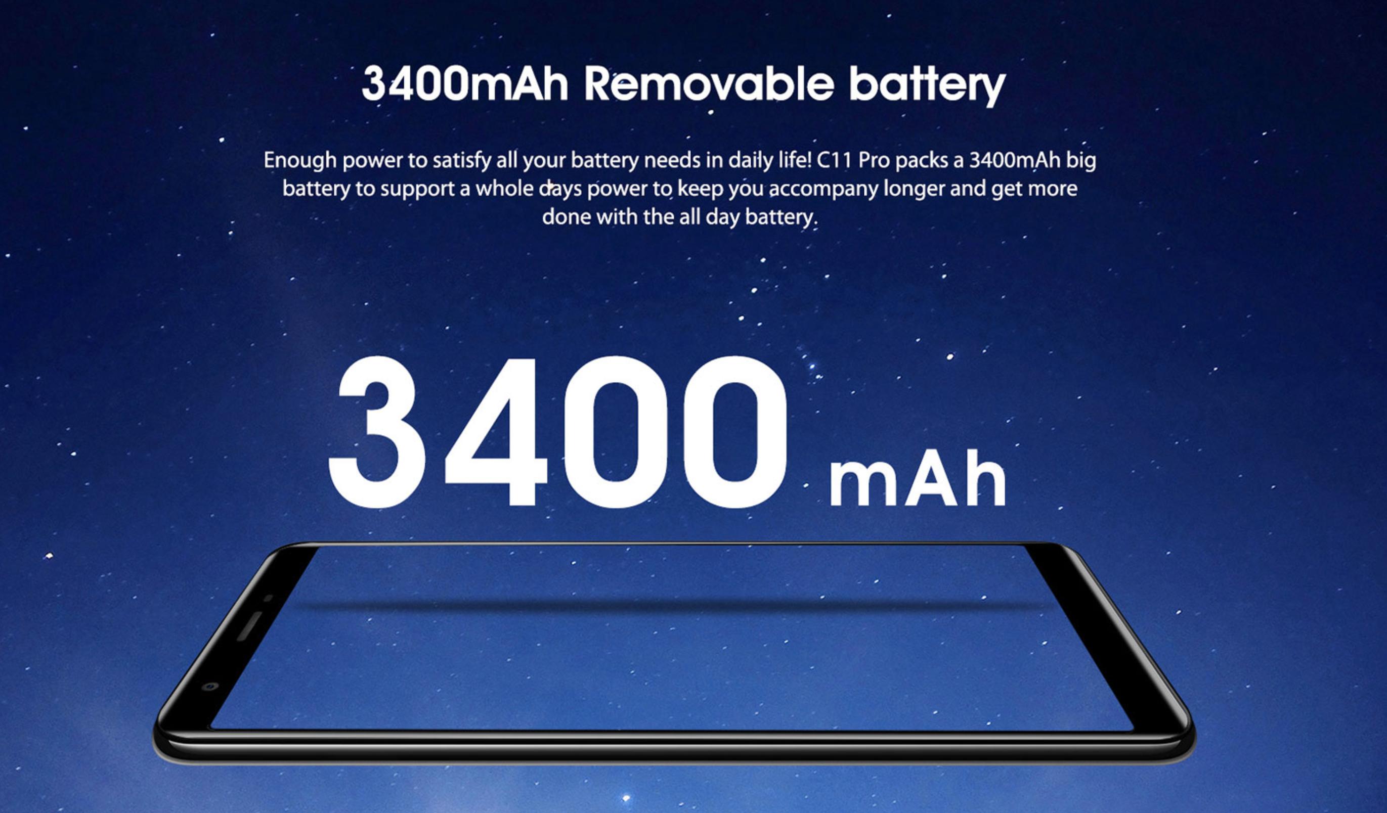 3,400mAhの大容量バッテリー