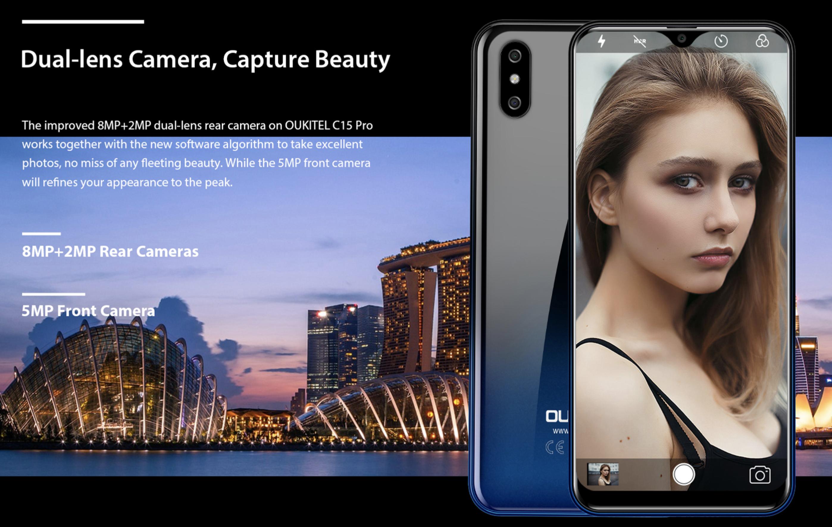 OUKITEL C15 Proのカメラ