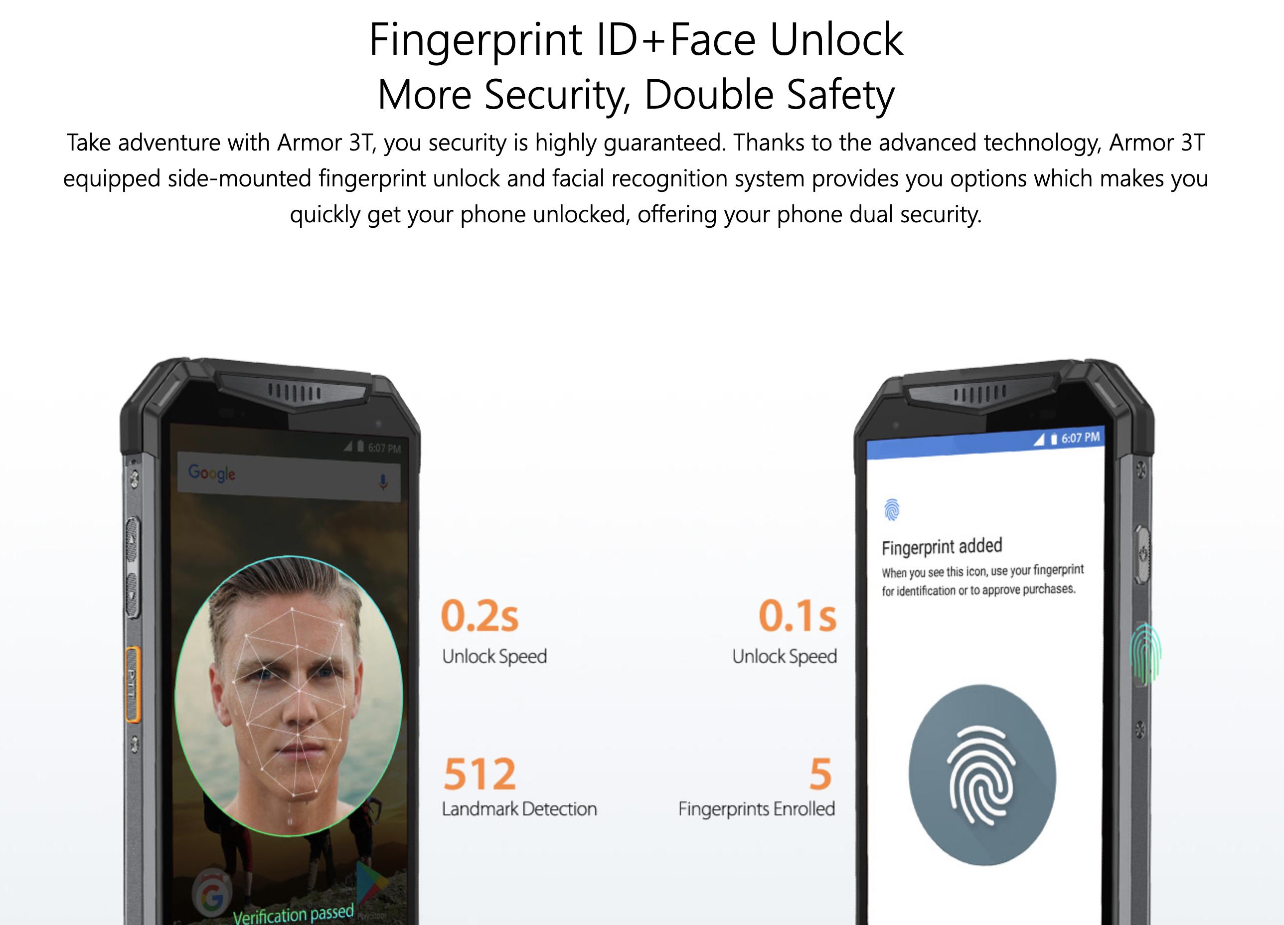 顔認証と指紋認証にも対応