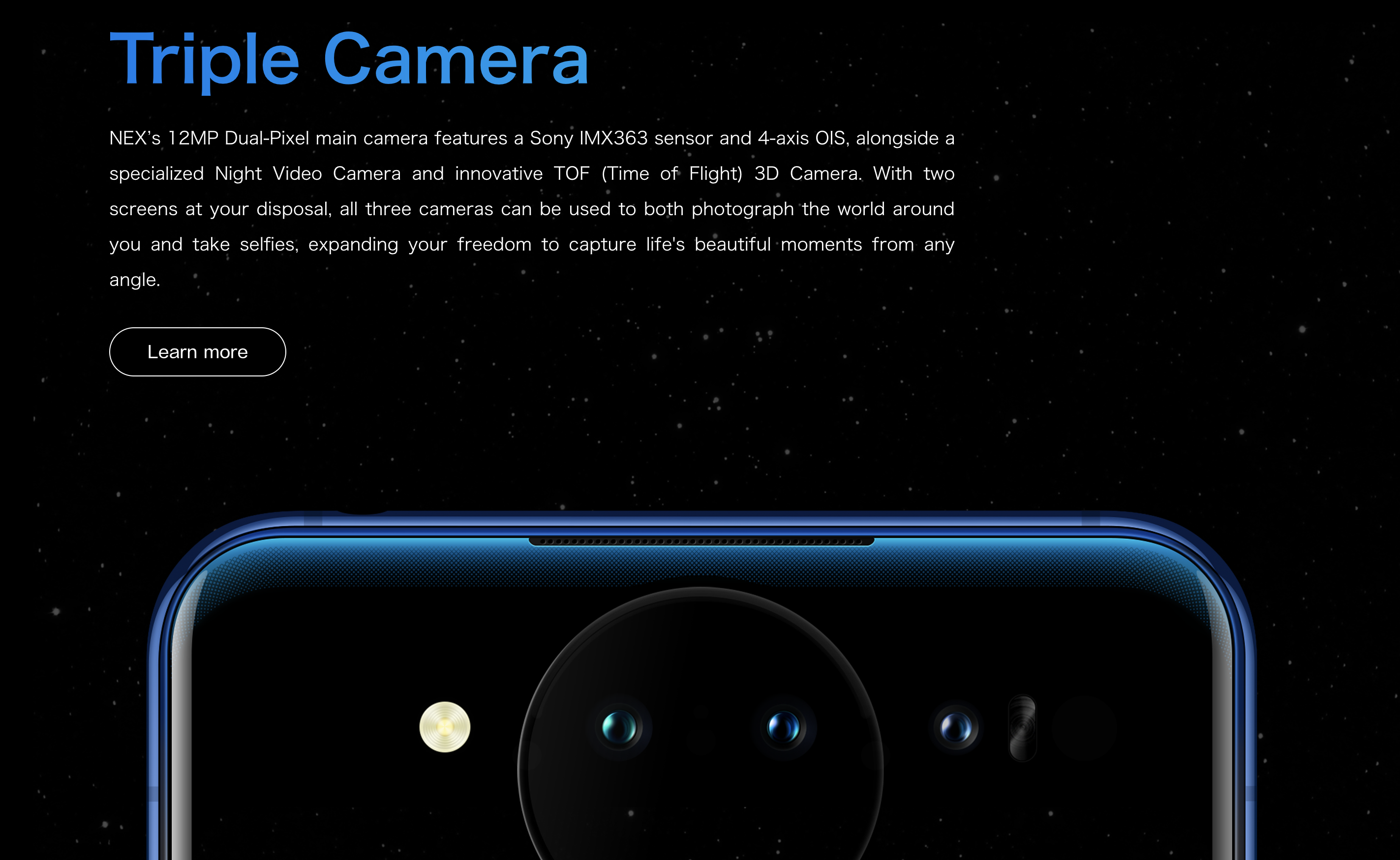 vivo NEX Dual Display のカメラ