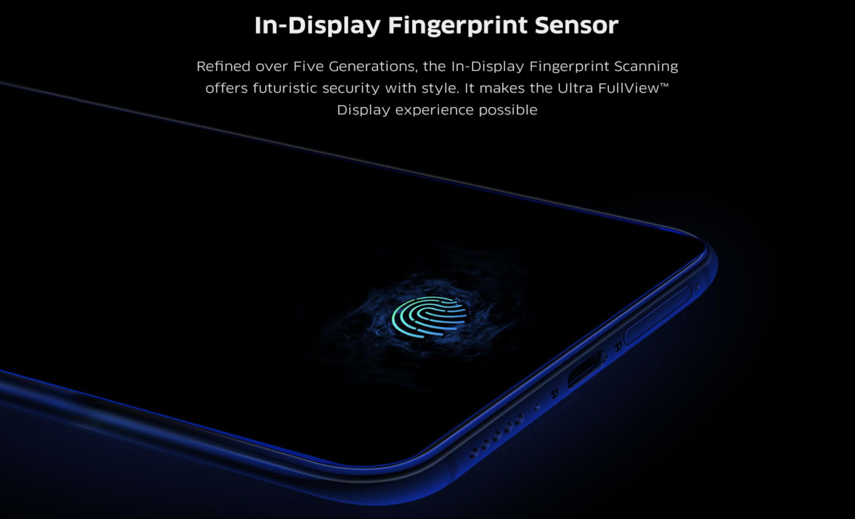 vivo V15 Proのディスプレイ指紋認証