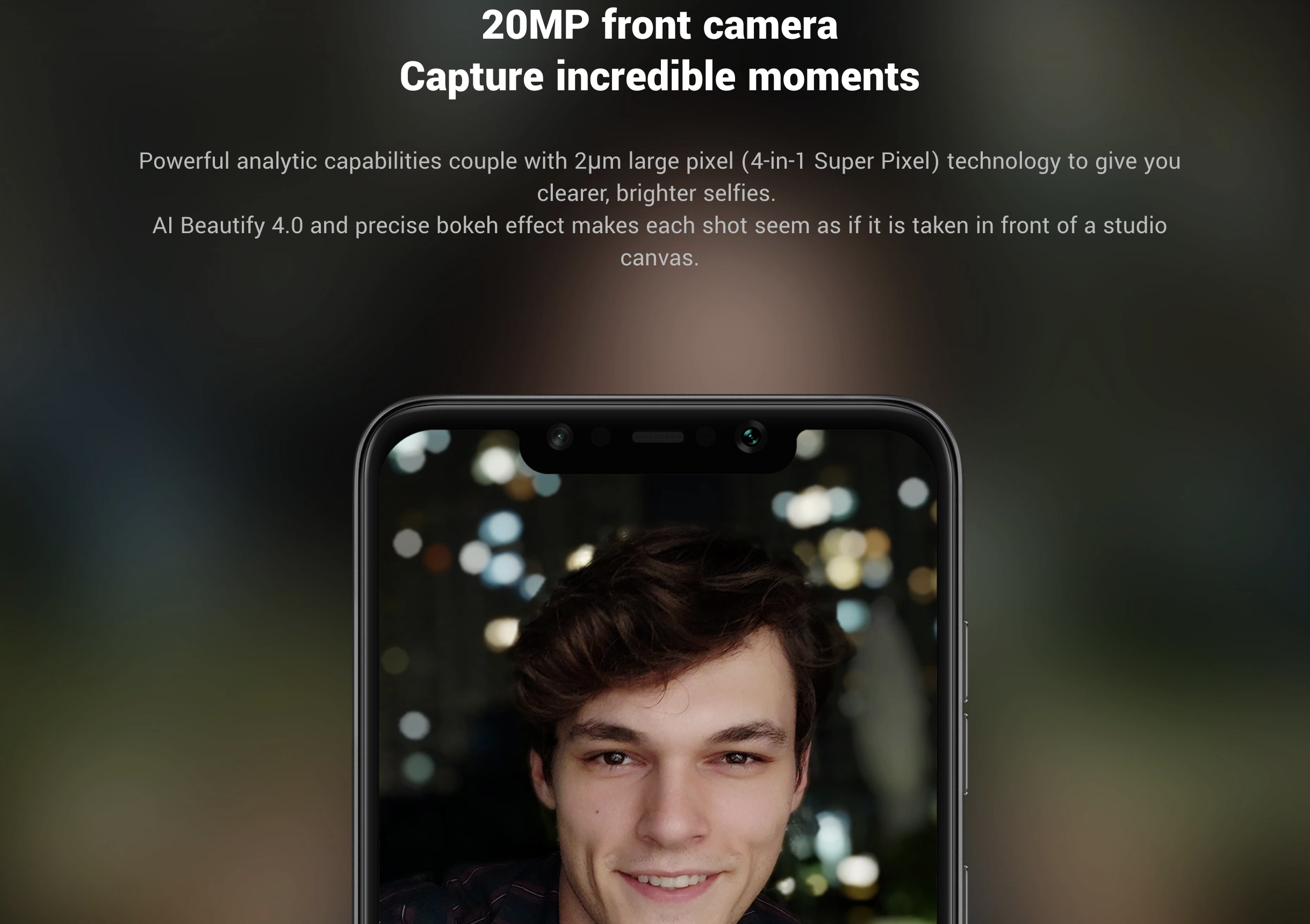 Pocophone F1のインカメラ