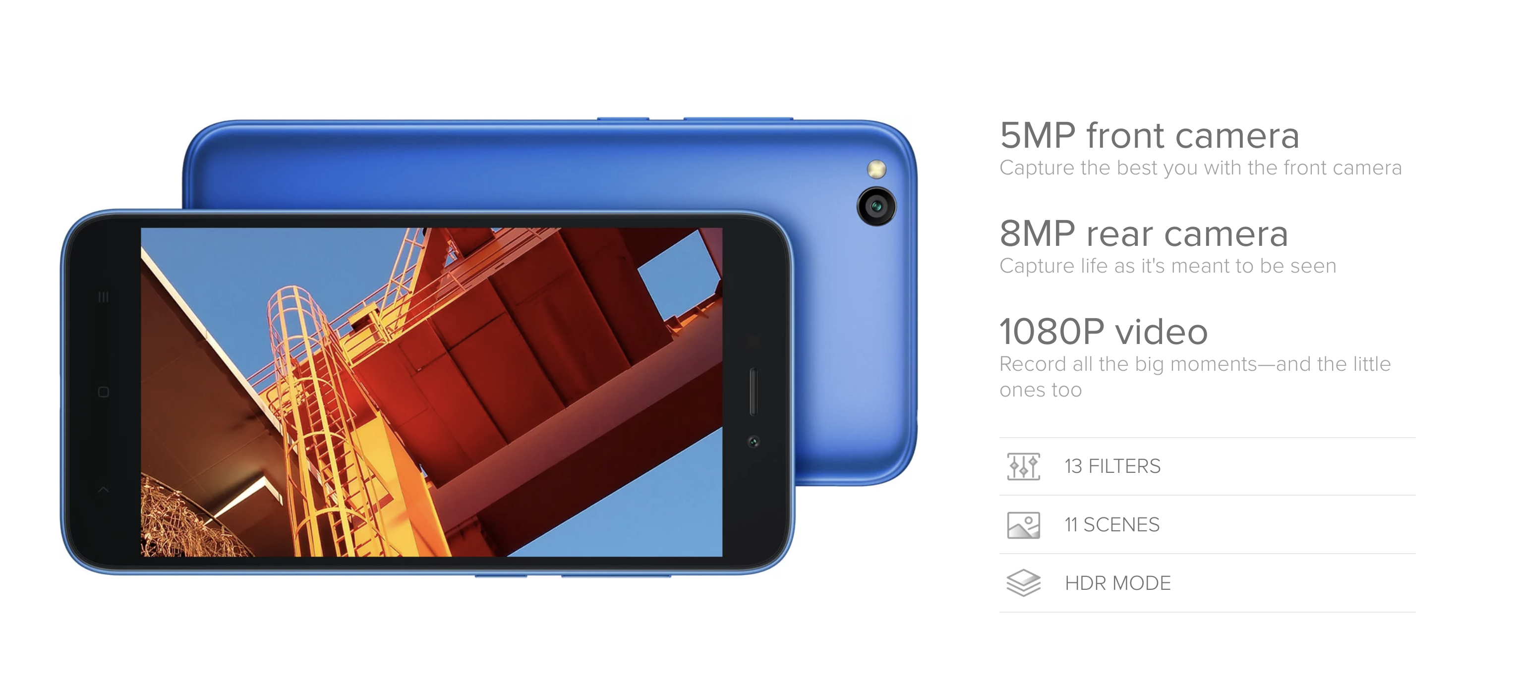 Xiaomi Redmi Goのカメラ