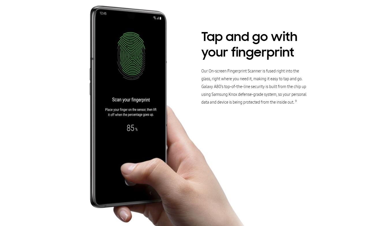 galaxy a80 fingerprint
