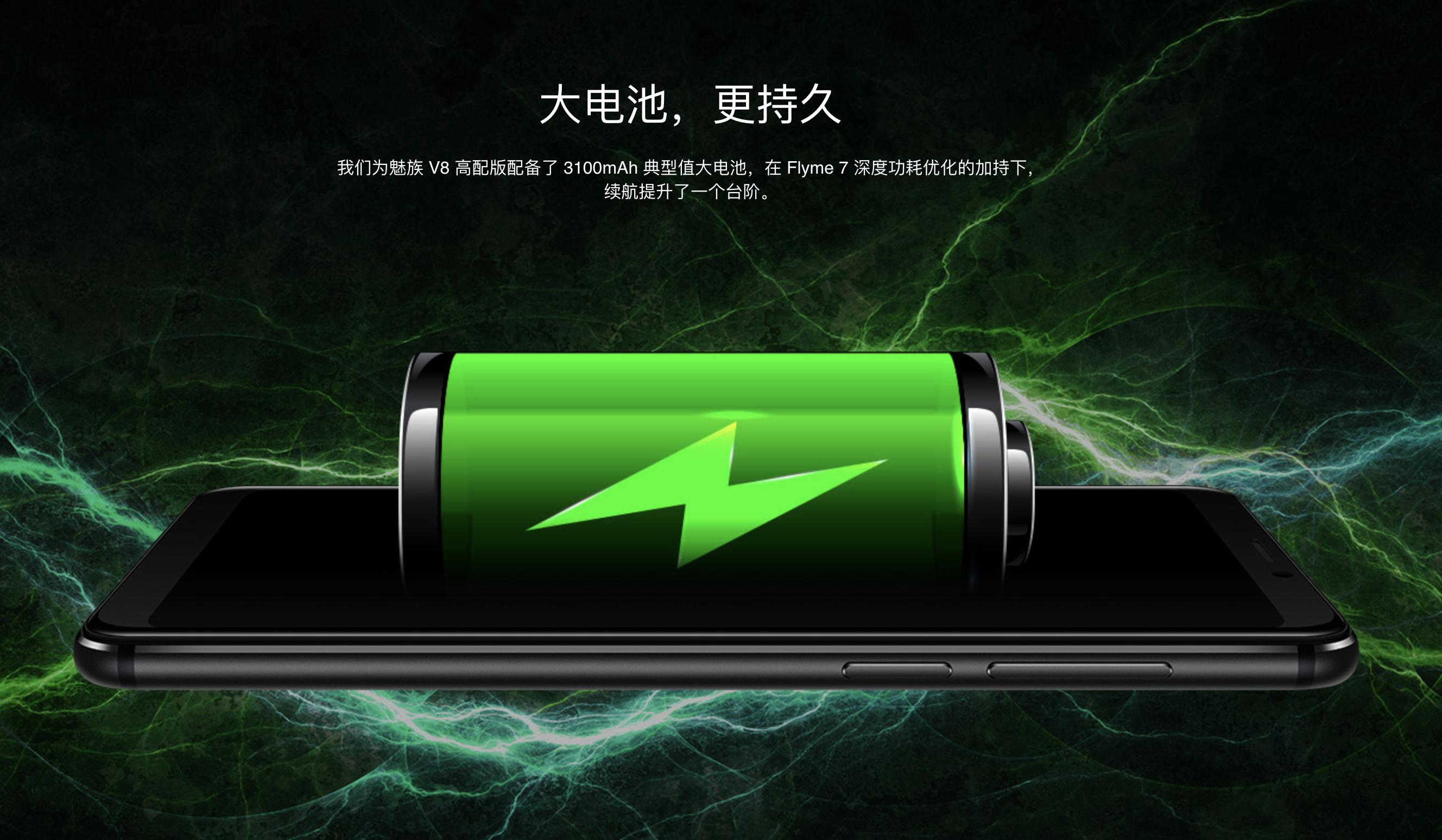 MEIZU V8 Proのバッテリー