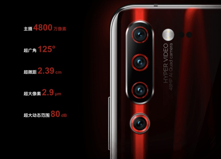 Lenovo Z6 Proのカメラ