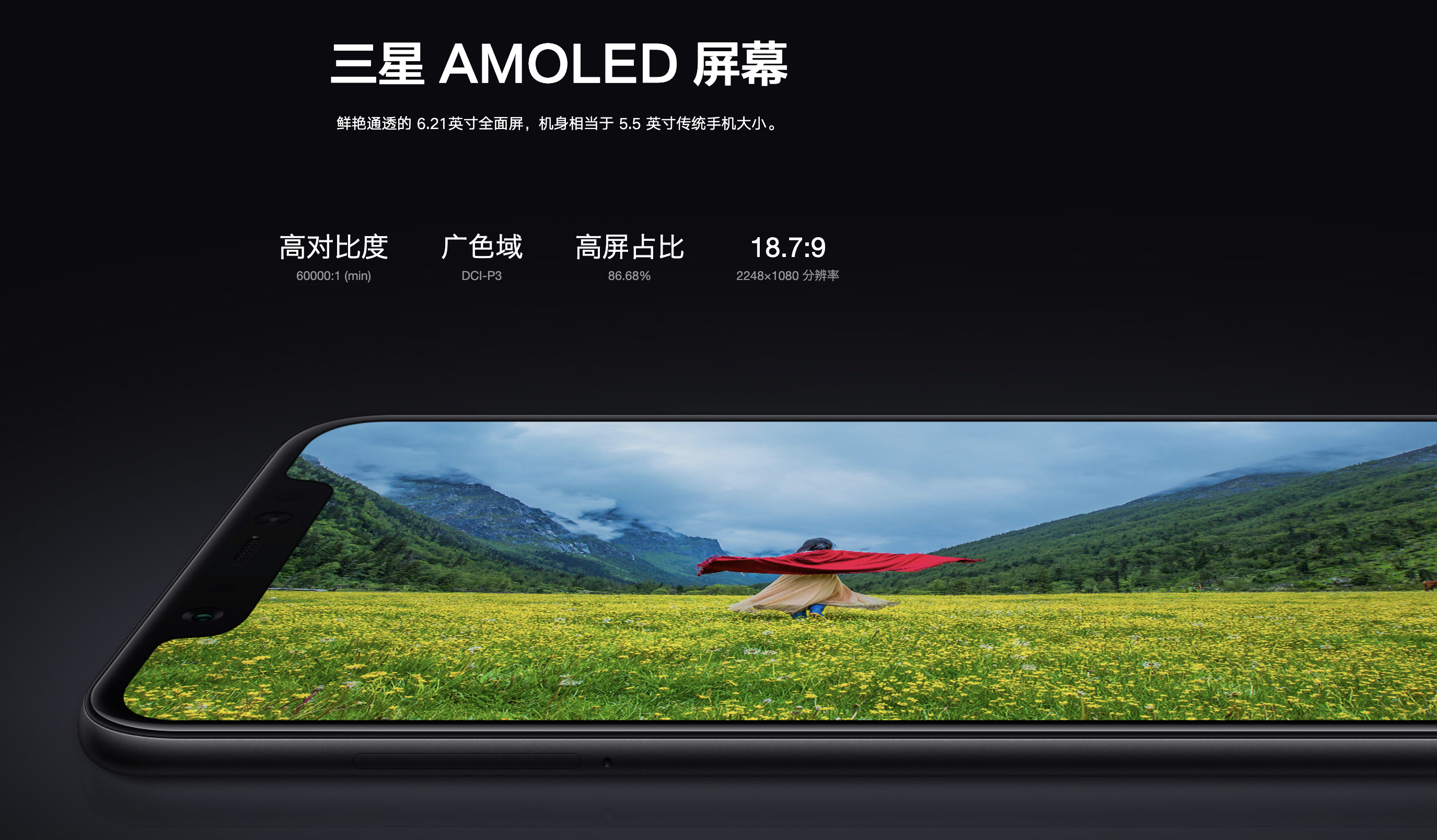 Xiaomi Mi 8のディスプレイ