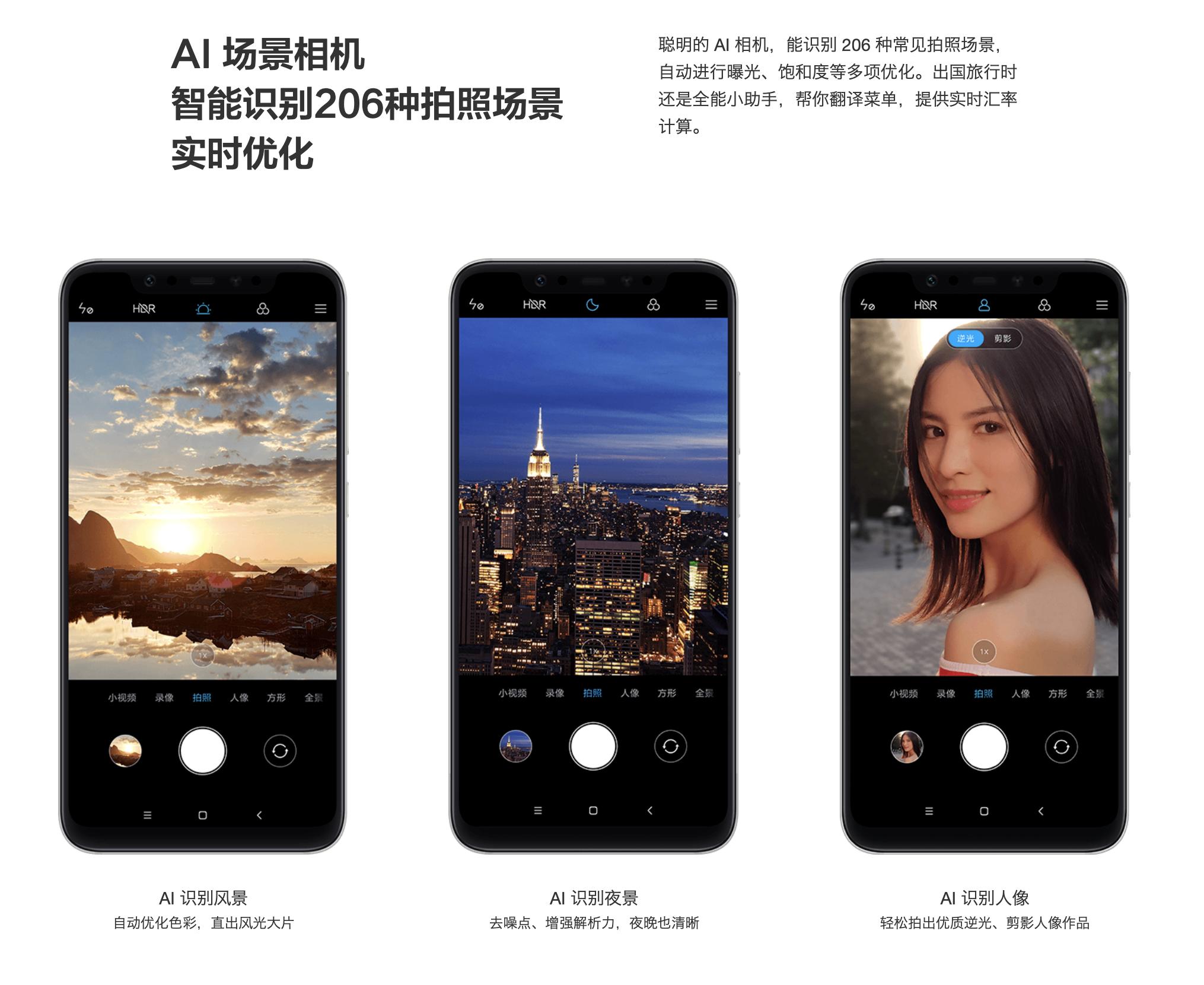 Xiaomi Mi 8のAIカメラ