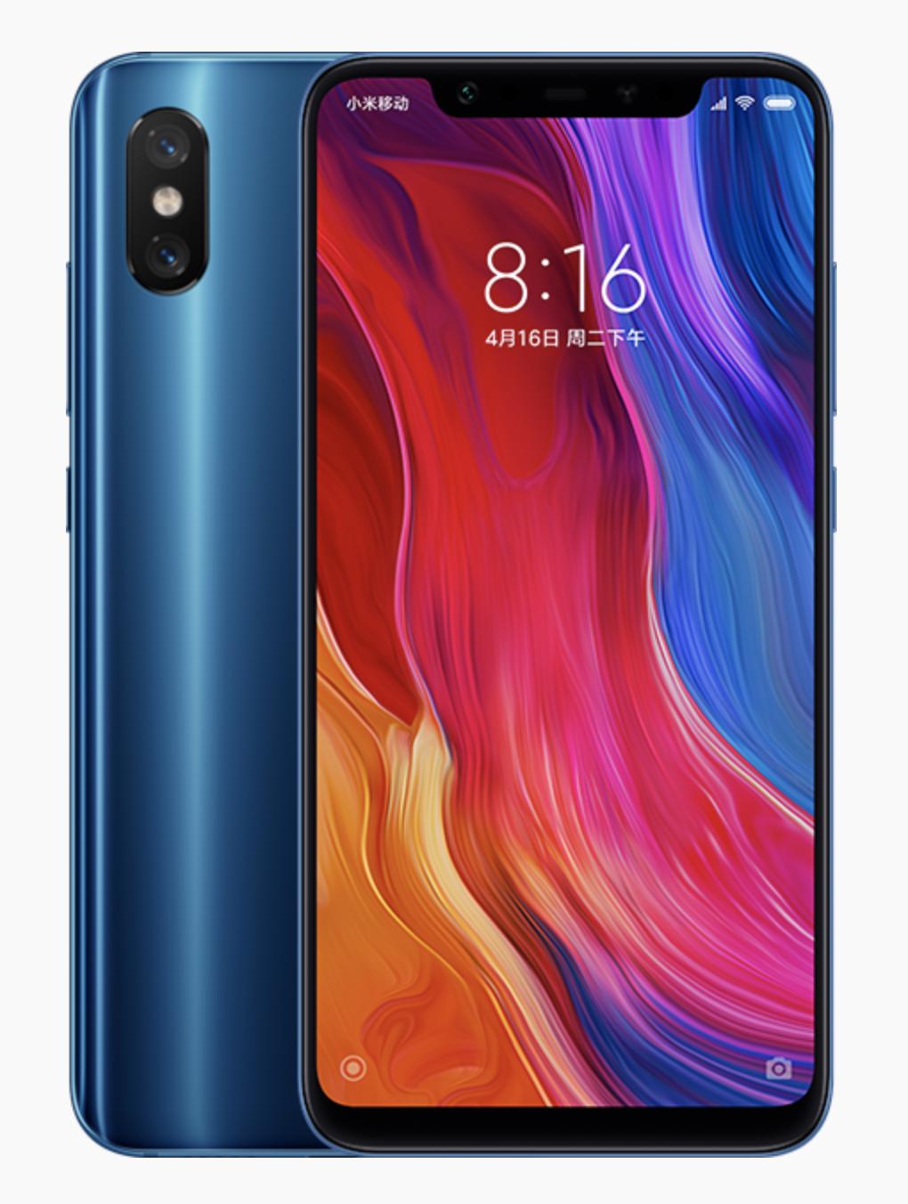 Xiaomi Mi 8のデザイン