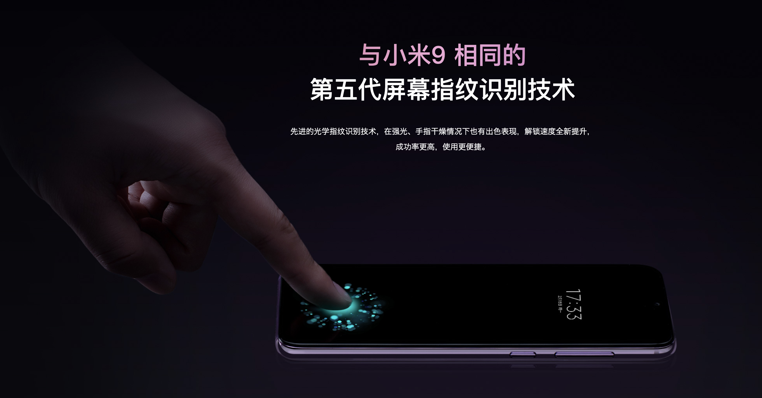 Xiaomi Mi 9 SEの生体認証