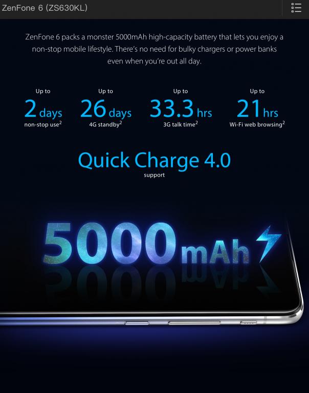 ZenFone6のバッテリー