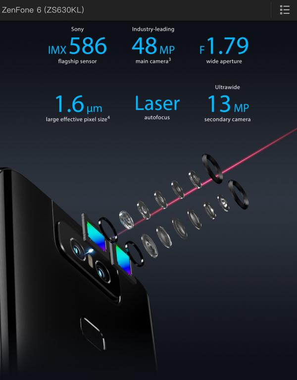 ZenFone6のカメラ