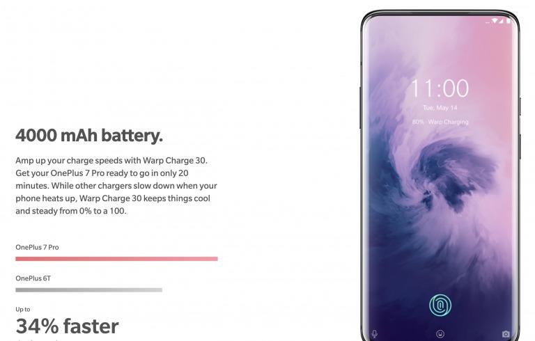 OnePlus 7 Proのバッテリー