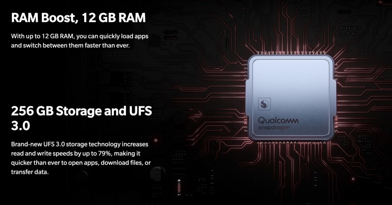 OnePlus 7 Proのメモリ