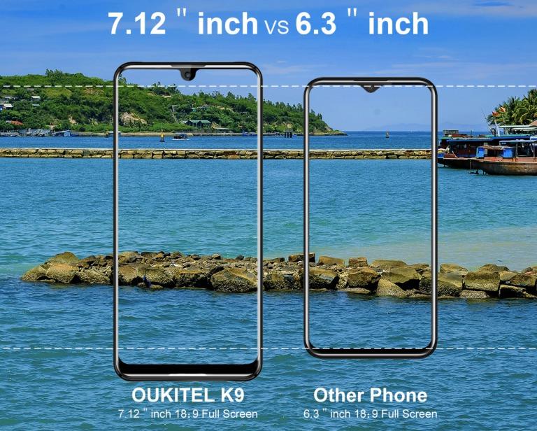 OUKITEL K9のサイズ