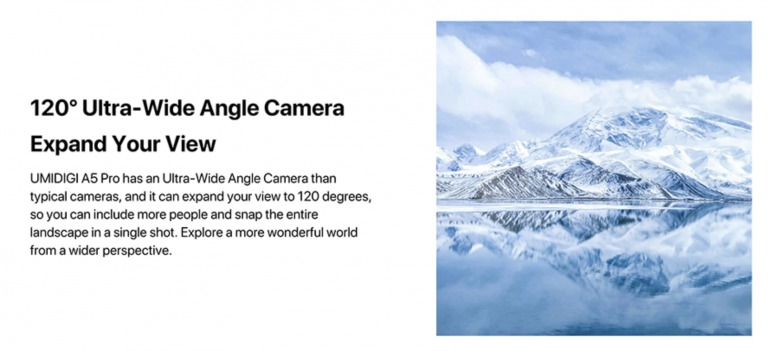 UMIDIGI A5 Proのサブカメラ