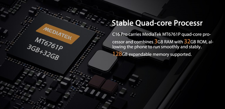OUKITEL C16 Proのスペック