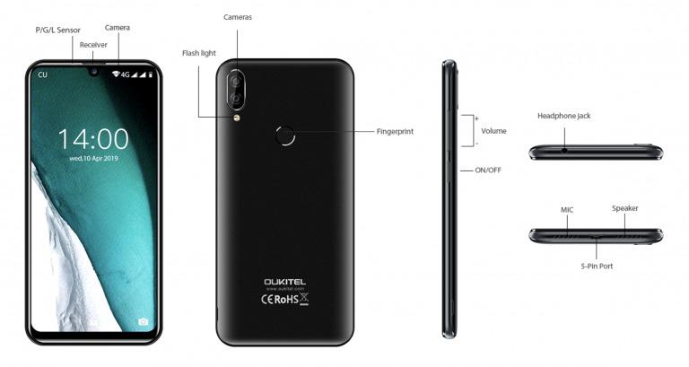 OUKITEL C16 Proのデザイン