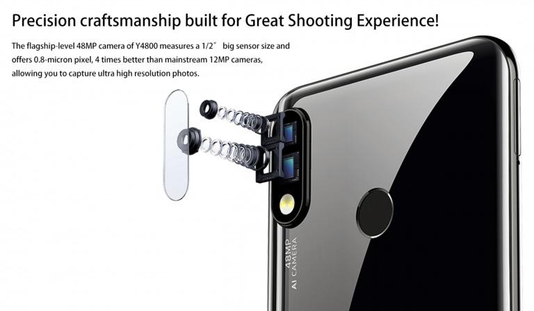 OUKITEL Y4800のカメラ