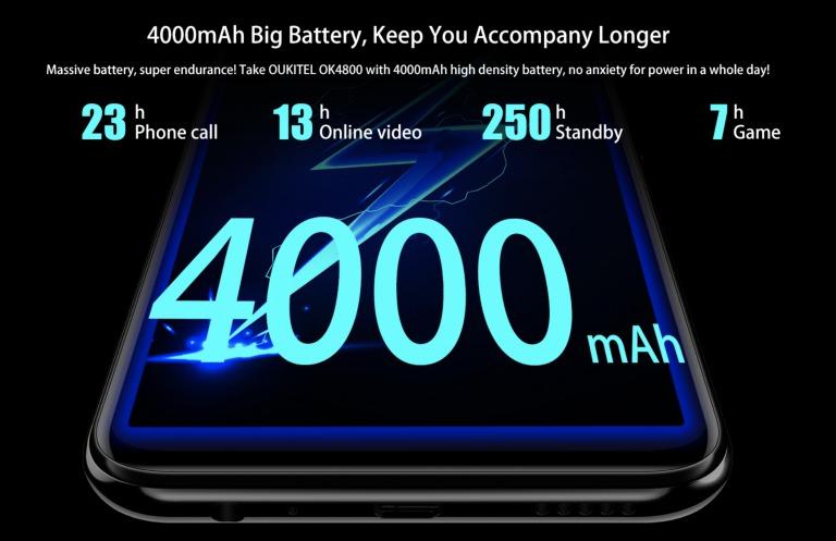 OUKITEL Y4800のバッテリー