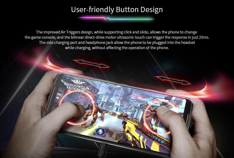 ROG Phone 2ののタッチボタン