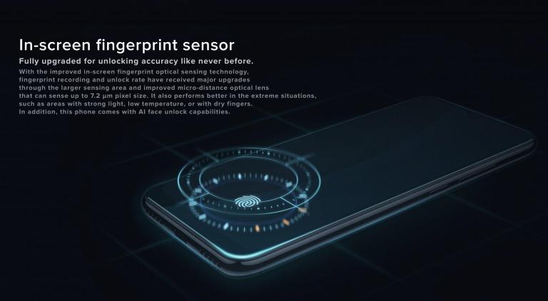 Xiaomi Mi A3のディスプレイ指紋認証