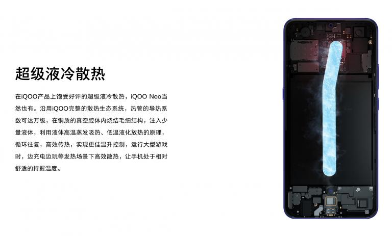 iQOO Neoの液体冷却
