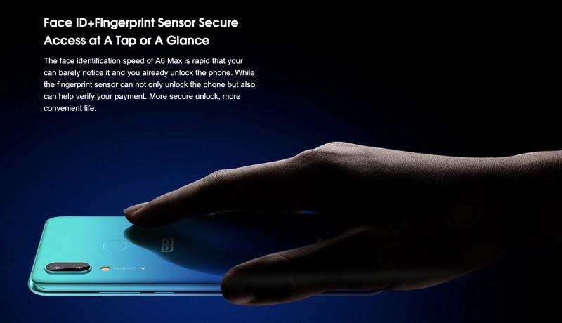 Elephone A6 Maxの生体認証