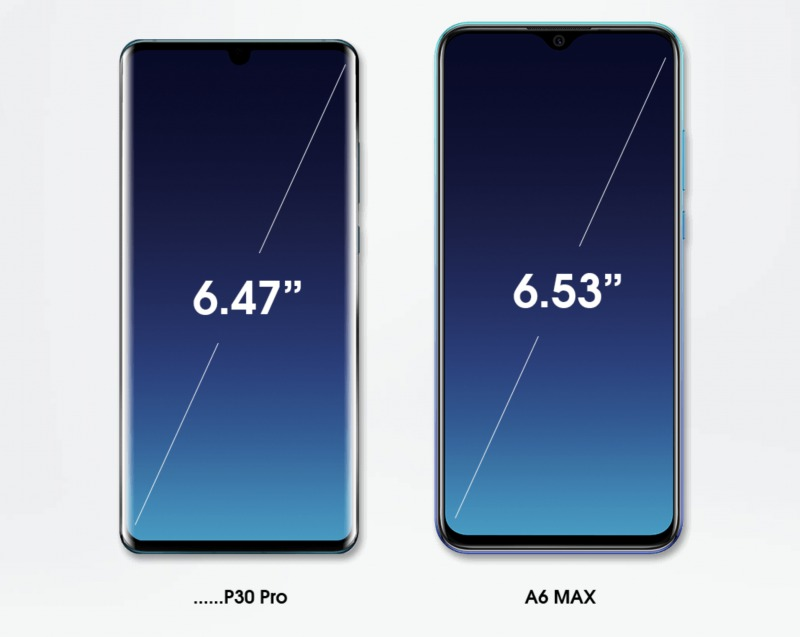 Elephone A6 Maxのディスプレイ
