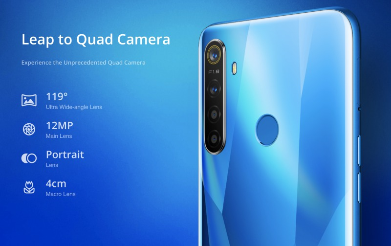 Realme 5のカメラ