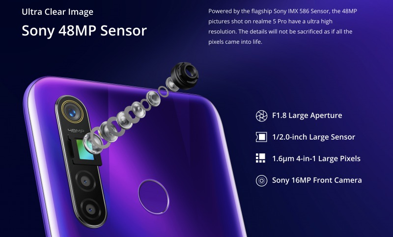Realme 5 Proのカメラ