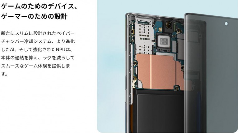 Galaxy Note 10のスペック