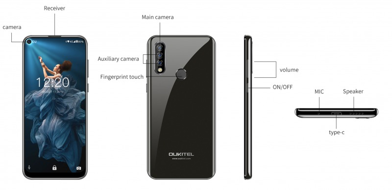 OUKITEL C17 Proの筐体