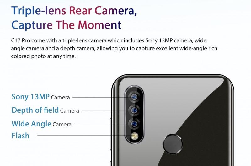 OUKITEL C17 Proのカメラ