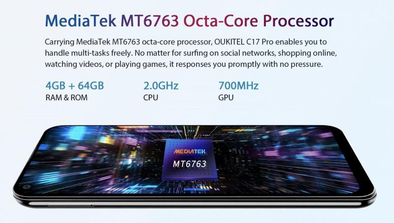OUKITEL C17 Proのスペック