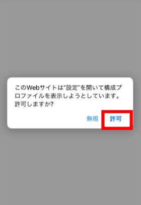 APNインストール(許可をタップ)