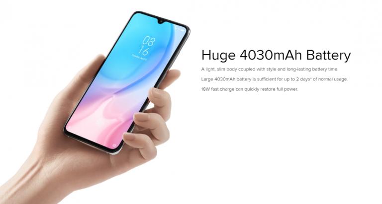 Xiaomi Mi 9 Liteの大容量バッテリー