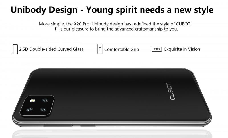CUBOT X20 Proのデザイン